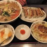 タン麺&餃子定食