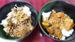 牛カルビ丼&麻婆茄子丼