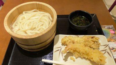 釜揚げうどん+天ぷら2種 丸亀製麺